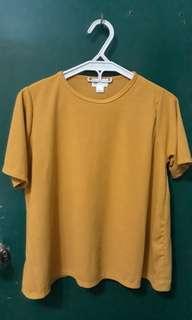 Mustard Ribbed Top