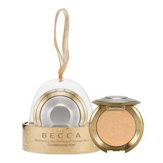 [open po] becca - Shimmering Skin Perfector™ Pressed Highlighter Champagne Pop Mini Ornament