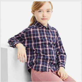 ♡Girls Flannel Checked Long Sleeve Shirt