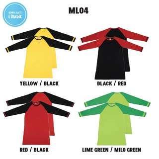 Muslimah Cotton Long Sleeve Round Neck - Raglan