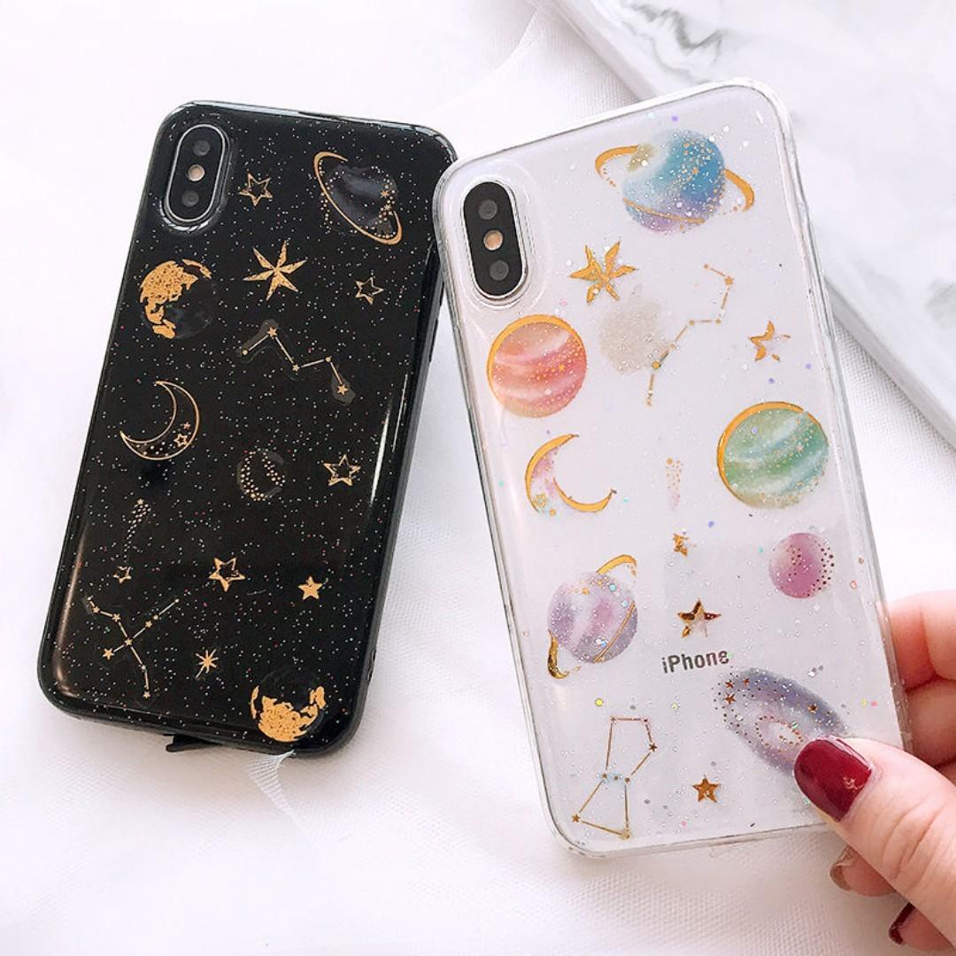 on sale 90f53 c7e51 ✨ glitter saturn / stars space tumblr phone case
