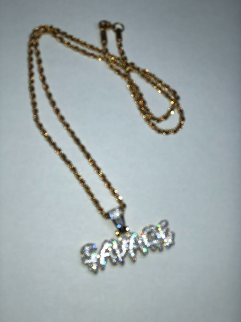 d0b23b428018 ❗ SALE ❗ SAVAGE NECKLACE CZ ICED OUT SAVAGE PENDANT + FREE 24 ...