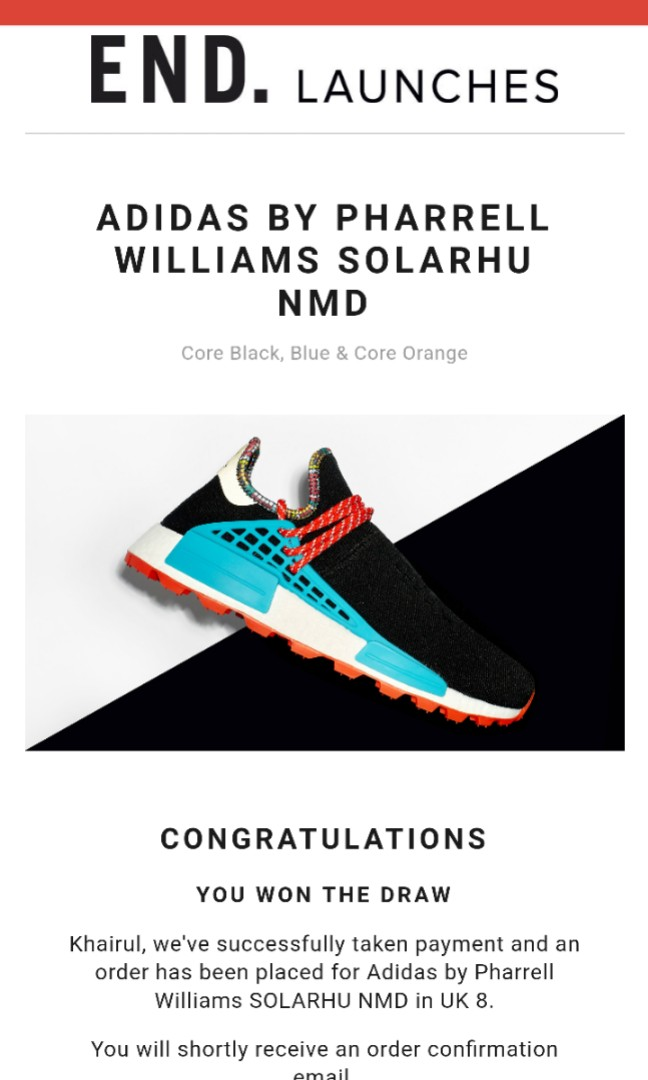 3097eac5c9c3b ADIDAS BY PHARRELL WILLIAMS SOLARHU NMD