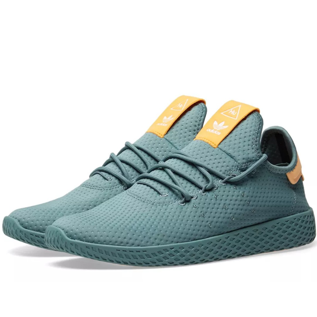 d63fdd7c769b2 ADIDAS X PHARRELL WILLIAMS TENNIS HU RAW GREEN   OFF WHITE
