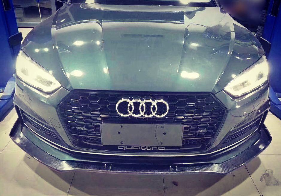 Audi A5 S5 B9 Front Carbon Lip, Car Accessories, Accessories