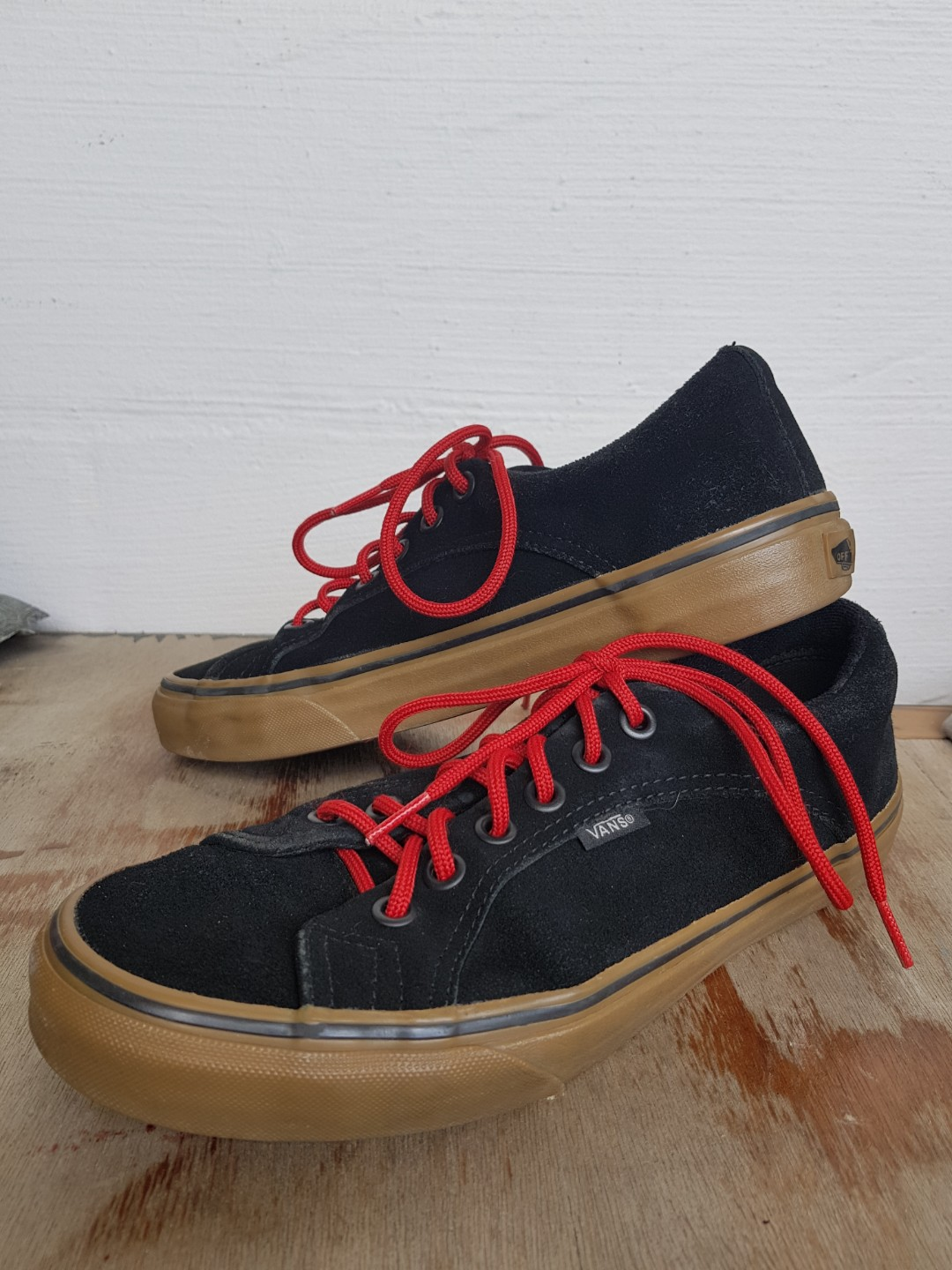 2020f5b8f6d Authentic vans black gumsole (price reduced from 49.90)