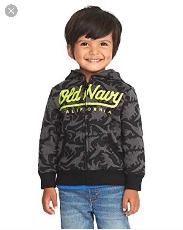 8e65c65a6588 BN Old Navy Toddler Dinosaur Logo Fleece Hoodie Jacket 18-24mths ...