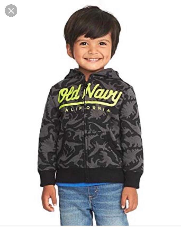 98c17fda4 BN Old Navy Toddler Dinosaur Logo Fleece Hoodie Jacket 18-24mths ...