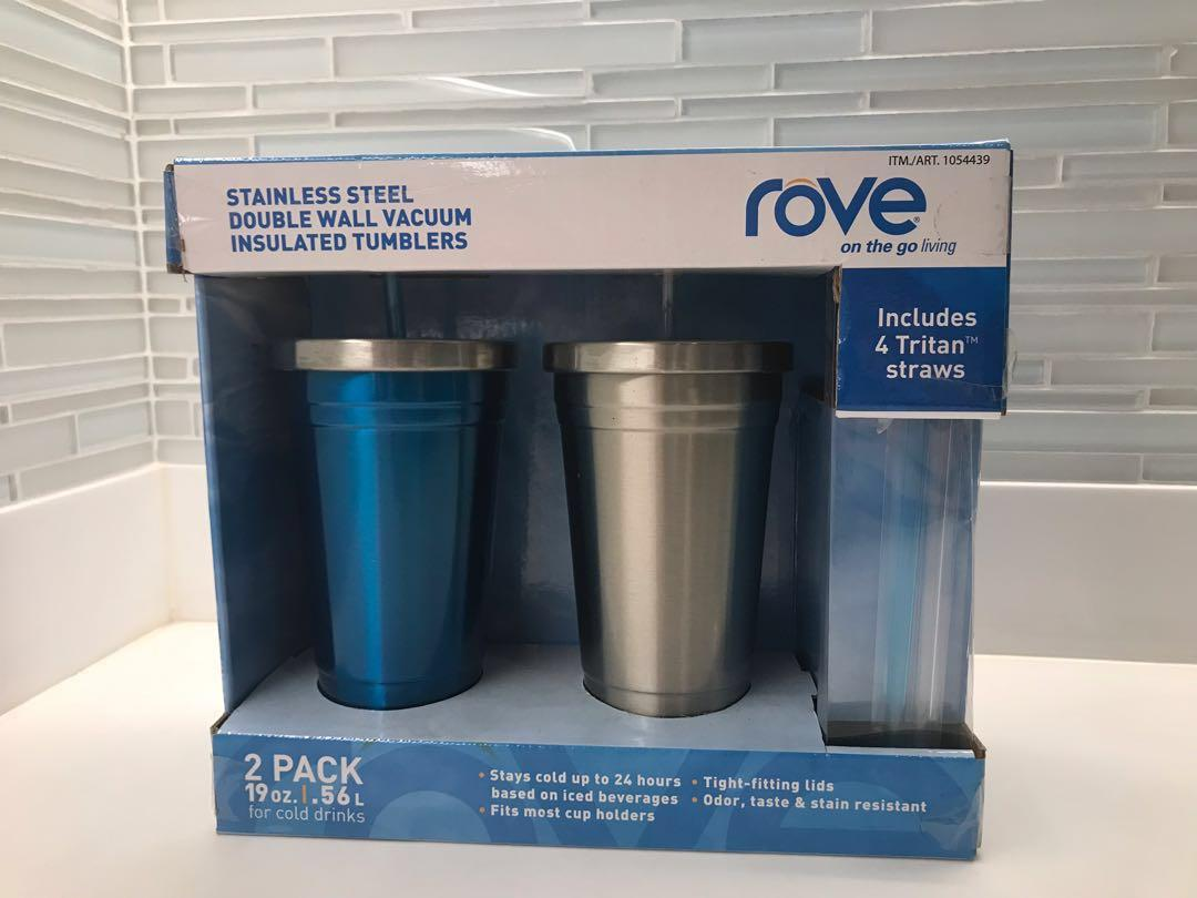 b7f760f039f BNEW Rove Stainless Steel Double Wall Insulated Vacuum Tumblers (Set ...