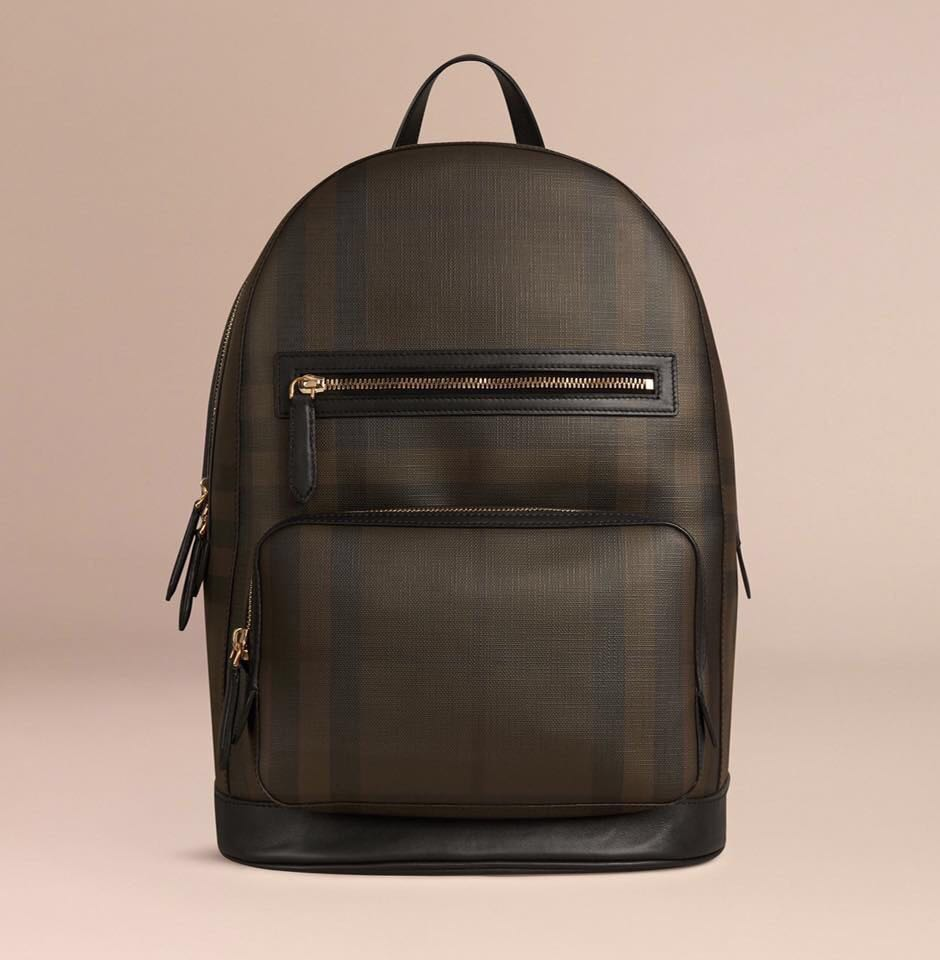 72706d54d84d Burberry Men s London Check Backpack (Chocolate Black w Silver-Tone ...