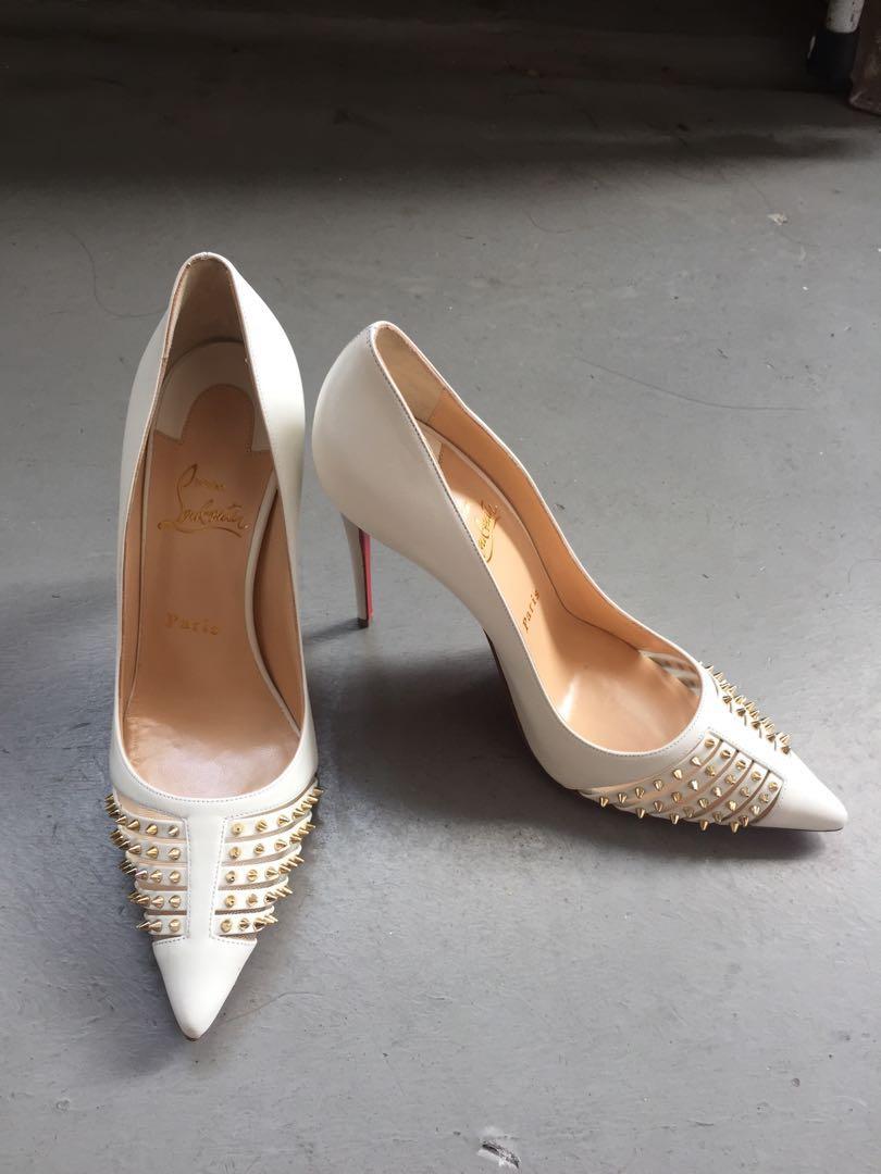d8e37ef5092e Christian Louboutin bridal heels
