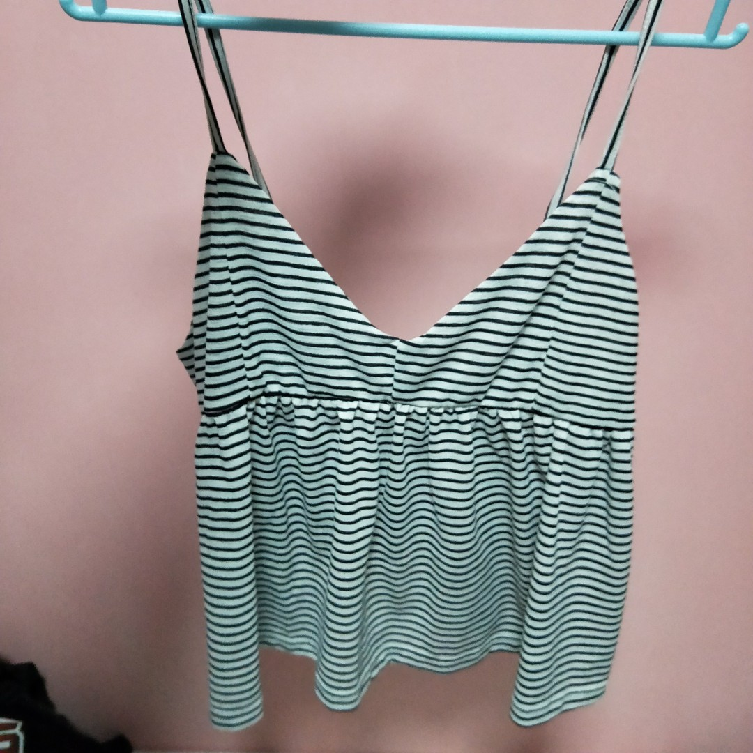 2cd7a8634618db cotton on brandy striped tie back baby doll cami top