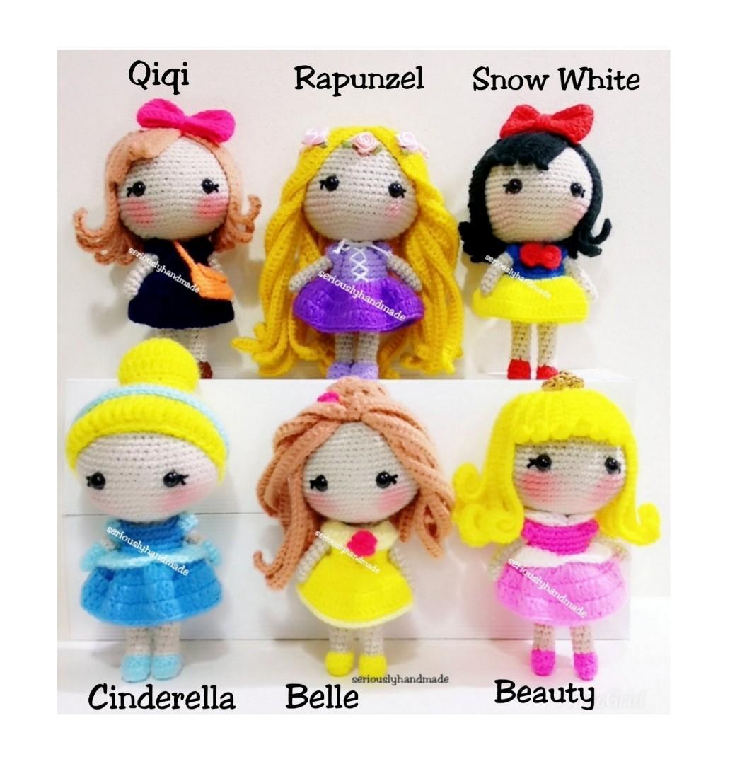 CROCHET PATTERN Cinderella Doll // Amigurumi Doll Pattern // Doll ... | 1080x1032