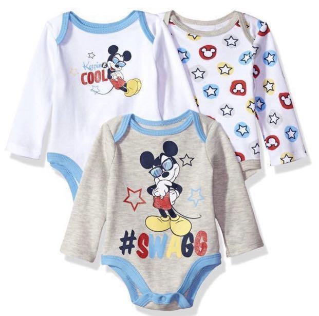 bf14b06ec Disney Baby Boys' Mickey Mouse Long Sleeve Bodysuit , 3-6 months ...