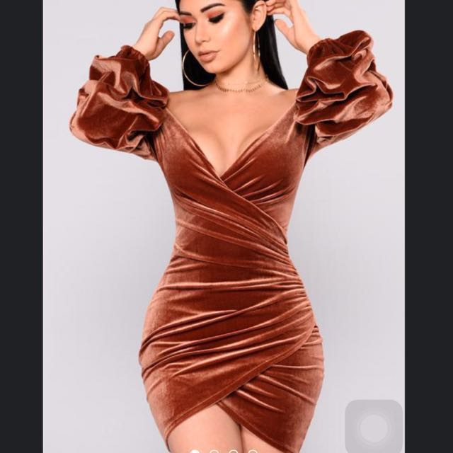 284fb25f058 Fashion Nova Blair Velvet Dress