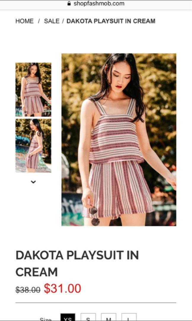 76d3156d8523 Fashmob Dakota Playsuit