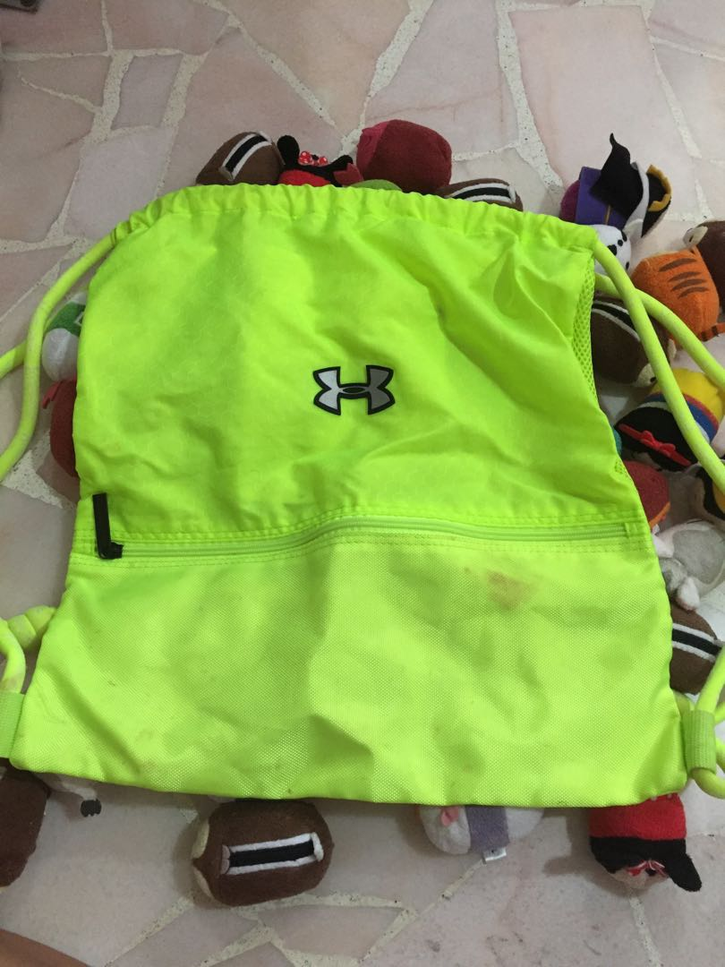 b3fe50b691 Flash sale neon yellow under armour drawstring bag single mens fashion bags  wallets backpacks on carousell