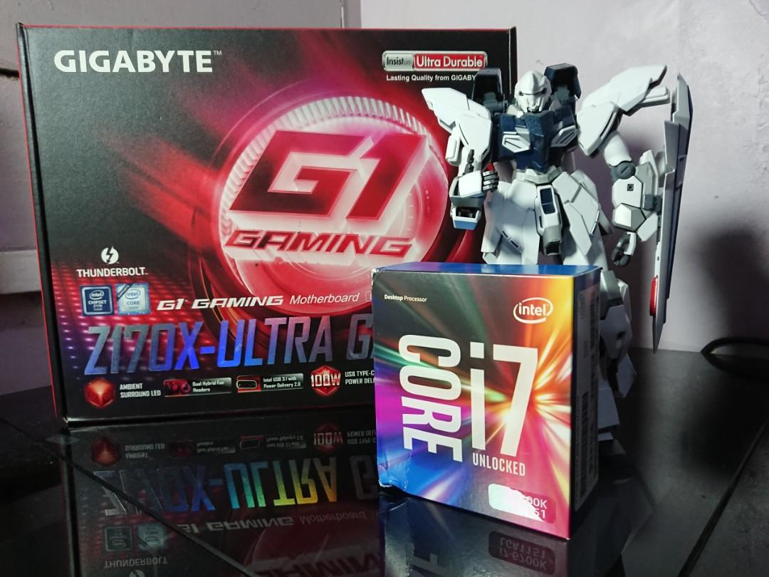 Intel Core i7-6700k and Gigabyte G1 Gaming Z170X Ultra
