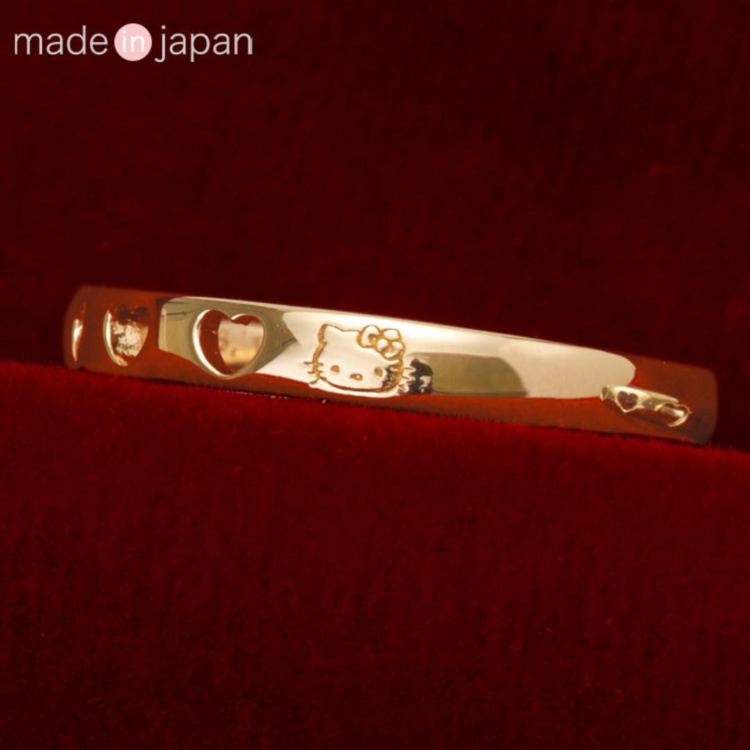 c6e7fb1d5 Japan Sanrio Hello Kitty K18 Heartful Ring, Women's Fashion ...