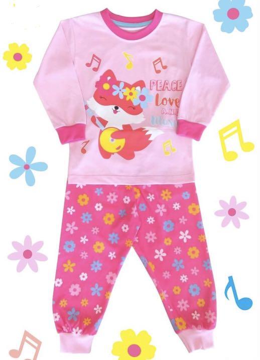 Jual baju tidur piyama anak motif cute dengan kualitas premium, Babies & Kids, Girls' Apparel, 1 to 3 Years on Carousell