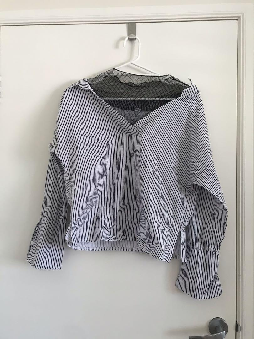 Korean mesh blouse