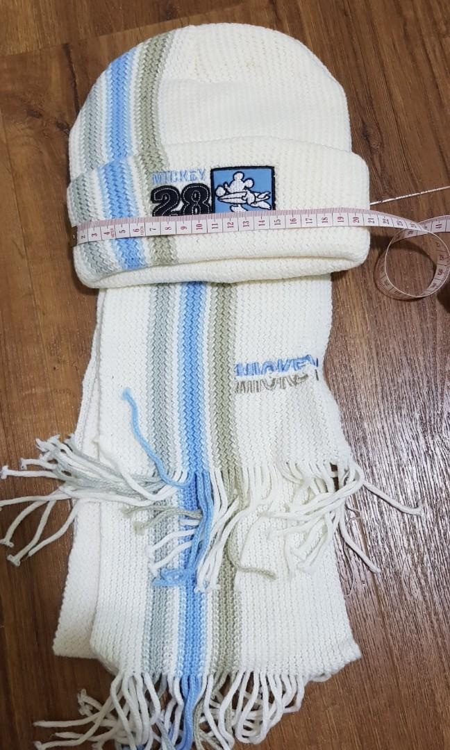 Lightly Used winter ski hat and scarf