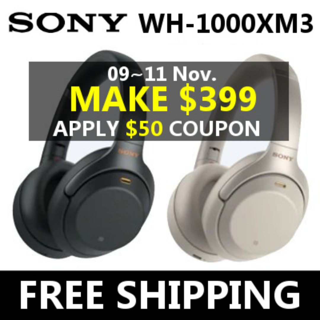 MAKE $399 + FREE SHIPPING ◆NO GST◆Sony WH1000Xm3 Headphones Over Ear  Wireless Bluetooth Headset