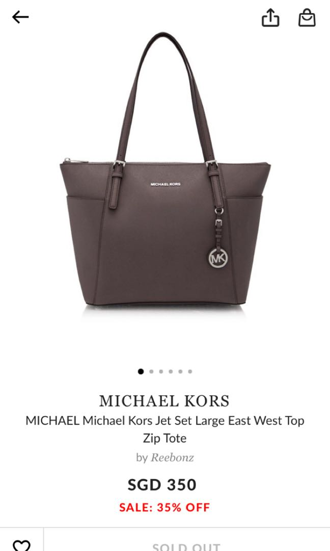 c115640c1bb2 Michael Kors Jet Set Large East West Top Zip Tote, Luxury, Bags ...