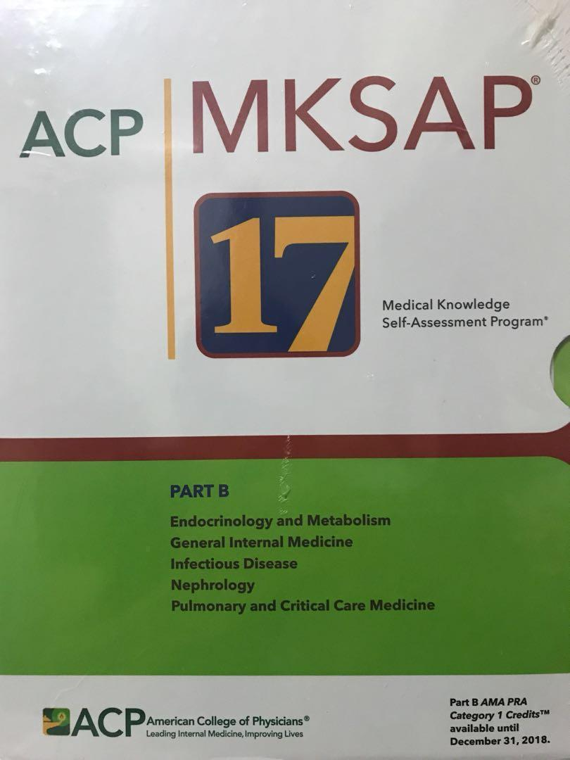 MKSAP 17 Part B (American College of Physicians Medical
