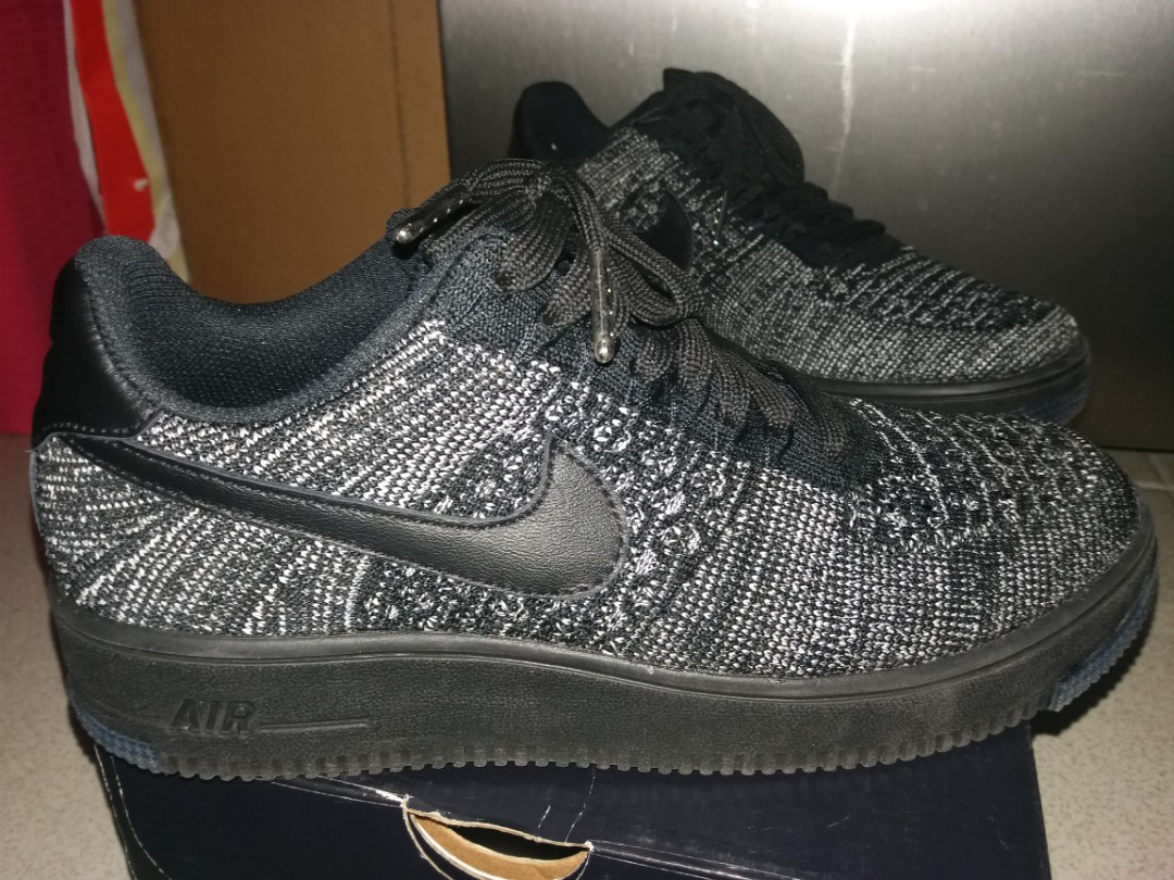 58faa262fd78b NIKE Air Force 1 Flyknit Low (Color Black/Size 8), Women's Fashion, Shoes  on Carousell