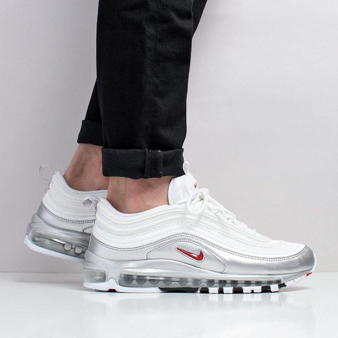 Nike Air Max 97 QS (White Varsity Red Metallic Silver