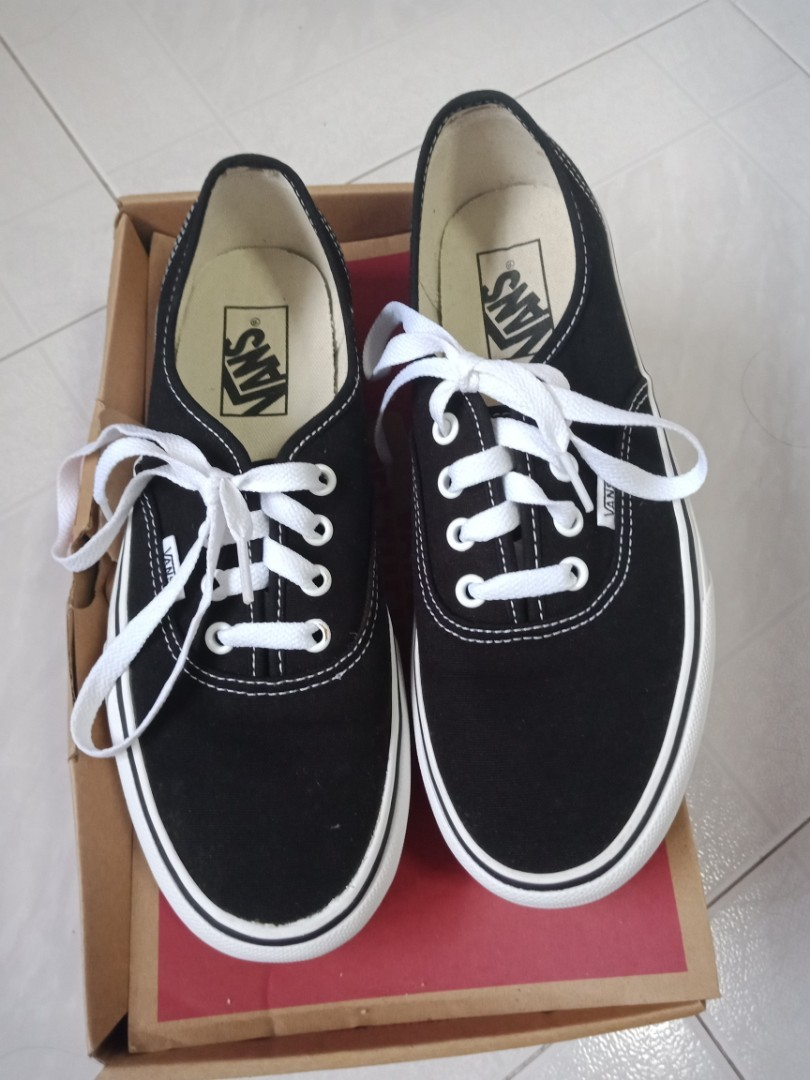 f09856af86 Vans Authentic platform black and white skateboard shoes