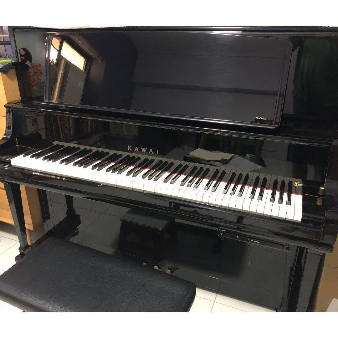 KAWAI K8 Upright Grand Piano with Silent Feature, Music