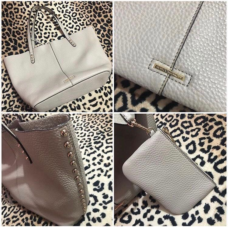 3611a70ca Rebecca Minkoff Unlined Tote with Dome Studs, Women's Fashion, Bags ...