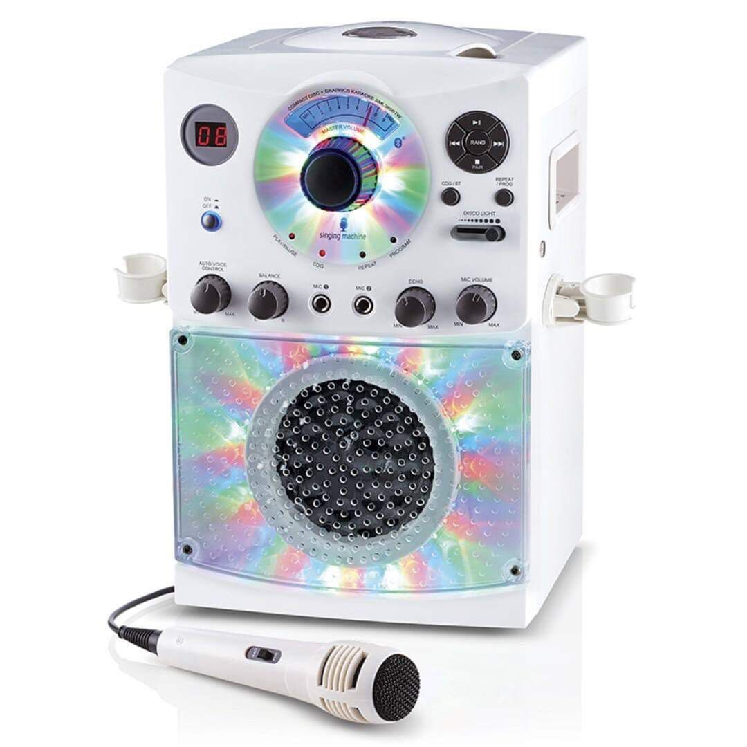 SGP751  Singing Machine SML-385 Karaoke Machine Party Pack with 3 CD+G's  Discs - White