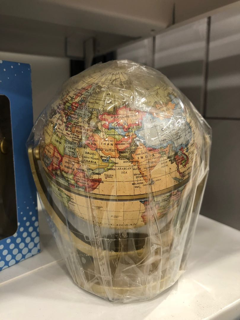 360 Degree World Map.Swivel And Tiltable World Map Globe Ball 360 Degree Spin Vintage