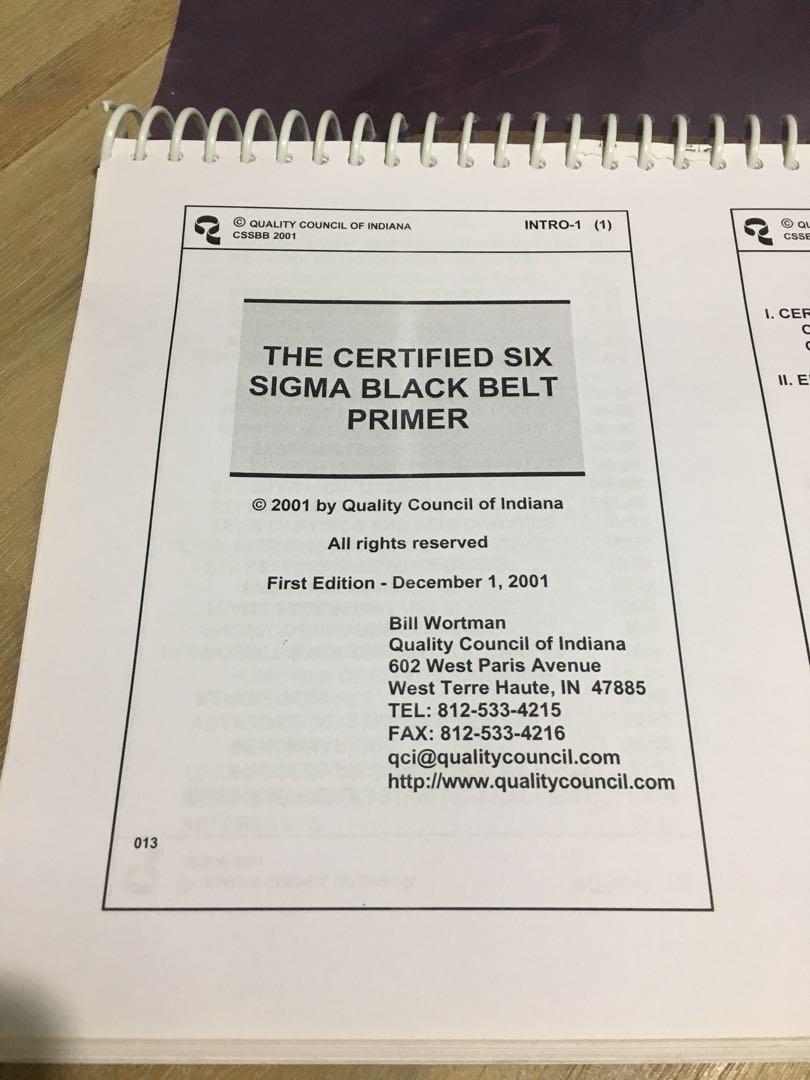 The Certified Six Sigma Black Belt Primer Books Stationery
