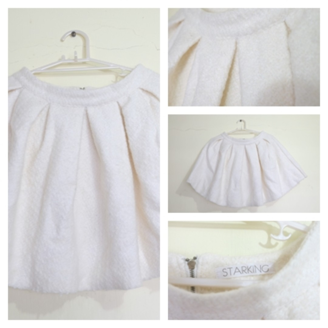 8cce264d24 THICK WHITE WOOL SKIRT, Women's Fashion, Clothes, Dresses & Skirts ...