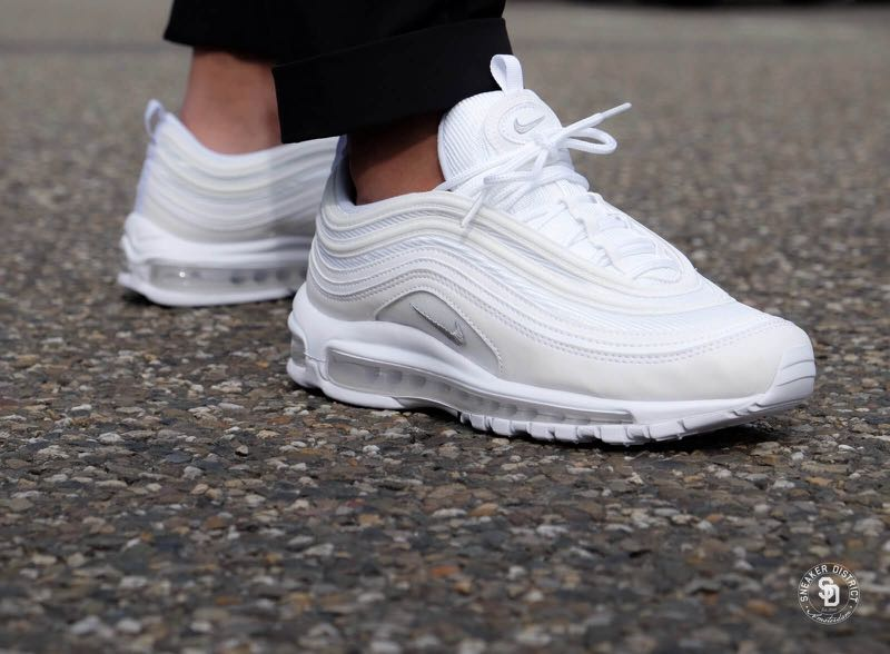UK10.5 US11.5 Nike Air Max 97 White Wolf Grey accf2d7b8c50