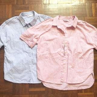 Padini Stripe Tops (Pink & Blue)