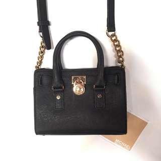 Michael kors hamilton black bag mini