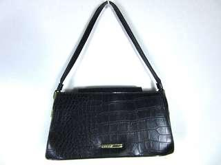 Guess black genuine leather bag