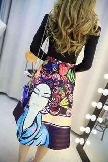 370php. Terno Top/ skirt Free size Cotton spandex fabric. Fit. Medium to large frame