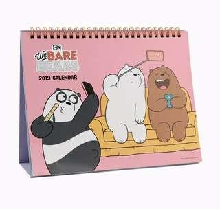 Korea WeBareBear 2019 Table Calendar Made in Korea