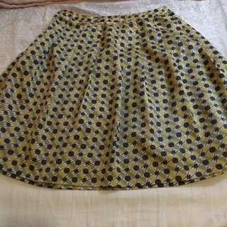 *Rope Picnic Yellow Geometric Skirt