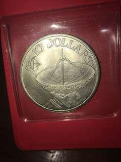 Old $10 coin from year 1978