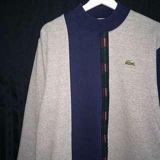 保留_____LACOSTE® ✼半高領套頭棉Tee✼ 日本古着Vintage