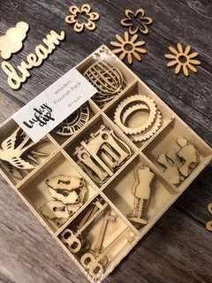 🚚 Kaisercraft Wooden Flourish Pack (Antiques)