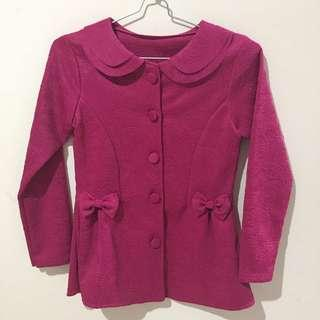 Kebaya Modern / Tops / Atasan / Outwear / Pink Fanta / Untuk anak SD - SMA