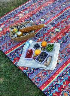 清屋。超大加厚民族風野餐墊 #消費不浪費